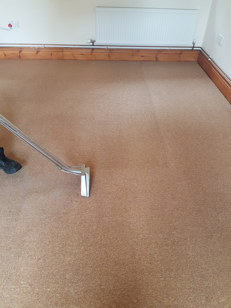 Carpet being steam cleaned by Carmarthenshire Carpet Care.